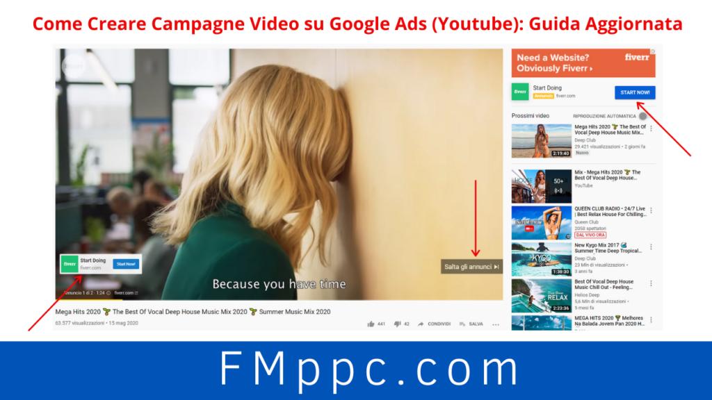 Esempio di annuncio in-Streamdi una campagna Youtube