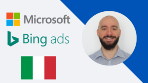 Immagine di copertina del corso per principianti su Microsoft Advertising (ex Bing Ads) in italiano, creato da Filippo Malvezzi di FMppc.com