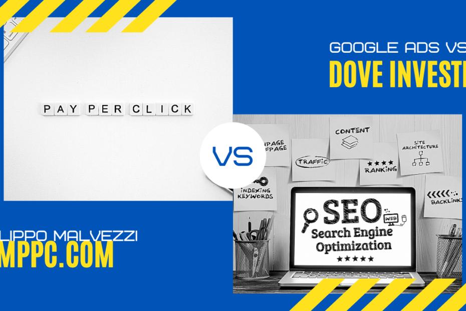 """Immagine di copertina dell'articolo intitolato """"Google ads vs SEO: Dove Investire?"""""""